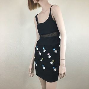 Anthropologie HD in Paris Embroidered Skirt
